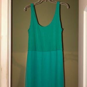 Vince Camuto sea green maxi dress